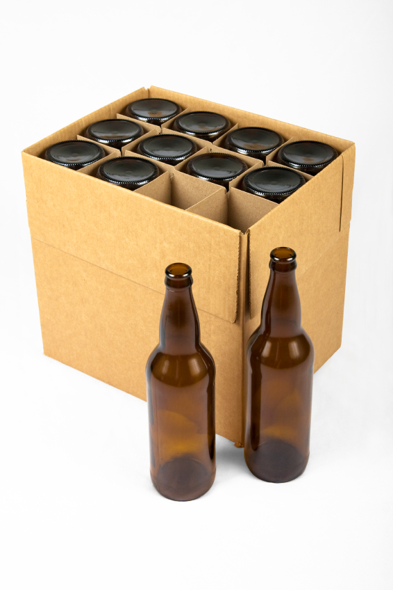 Bottle box with divisions